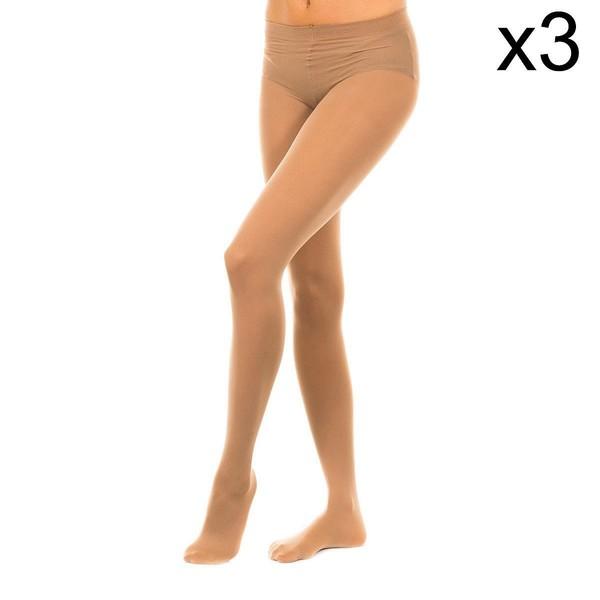 Pack-3 Panty Tupido M.Fibra 50D Mujer - Arena