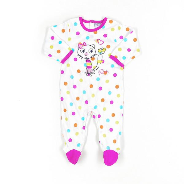 Pelele bebé - blanco/violeta