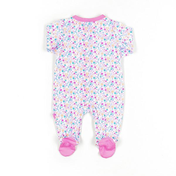 Pelele bebé - rosa/flores