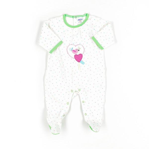 Pelele bebé - crudo/multicolor