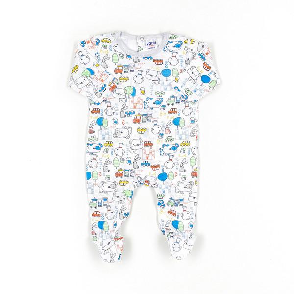 Pelele bebé - blanco/multicolor