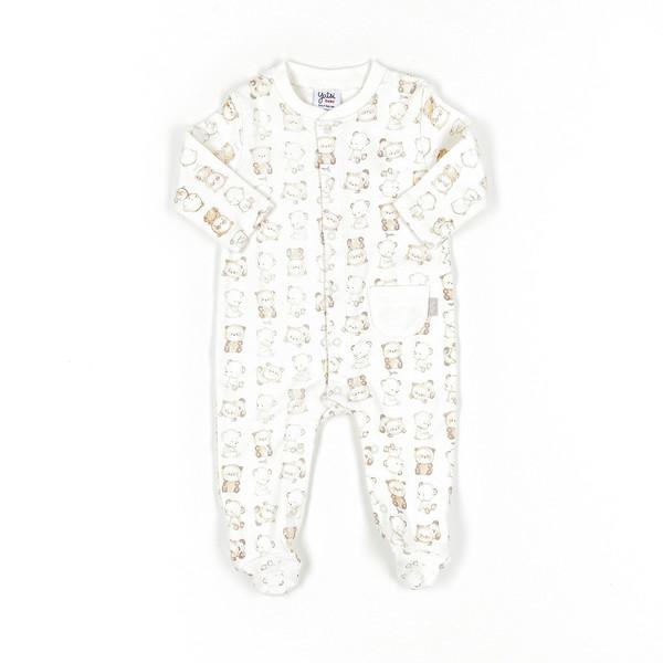 Pelele bebé - crudo/estampados
