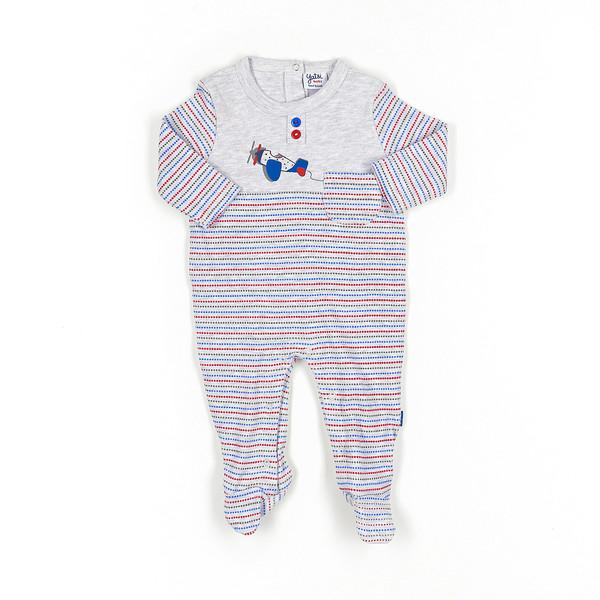 Pelele bebé - gris vigore/multicolor