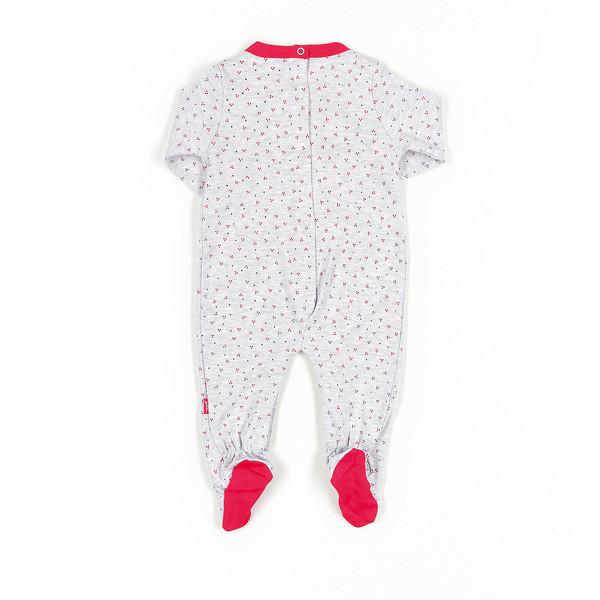 Pelele bebé - gris vigore/rojo