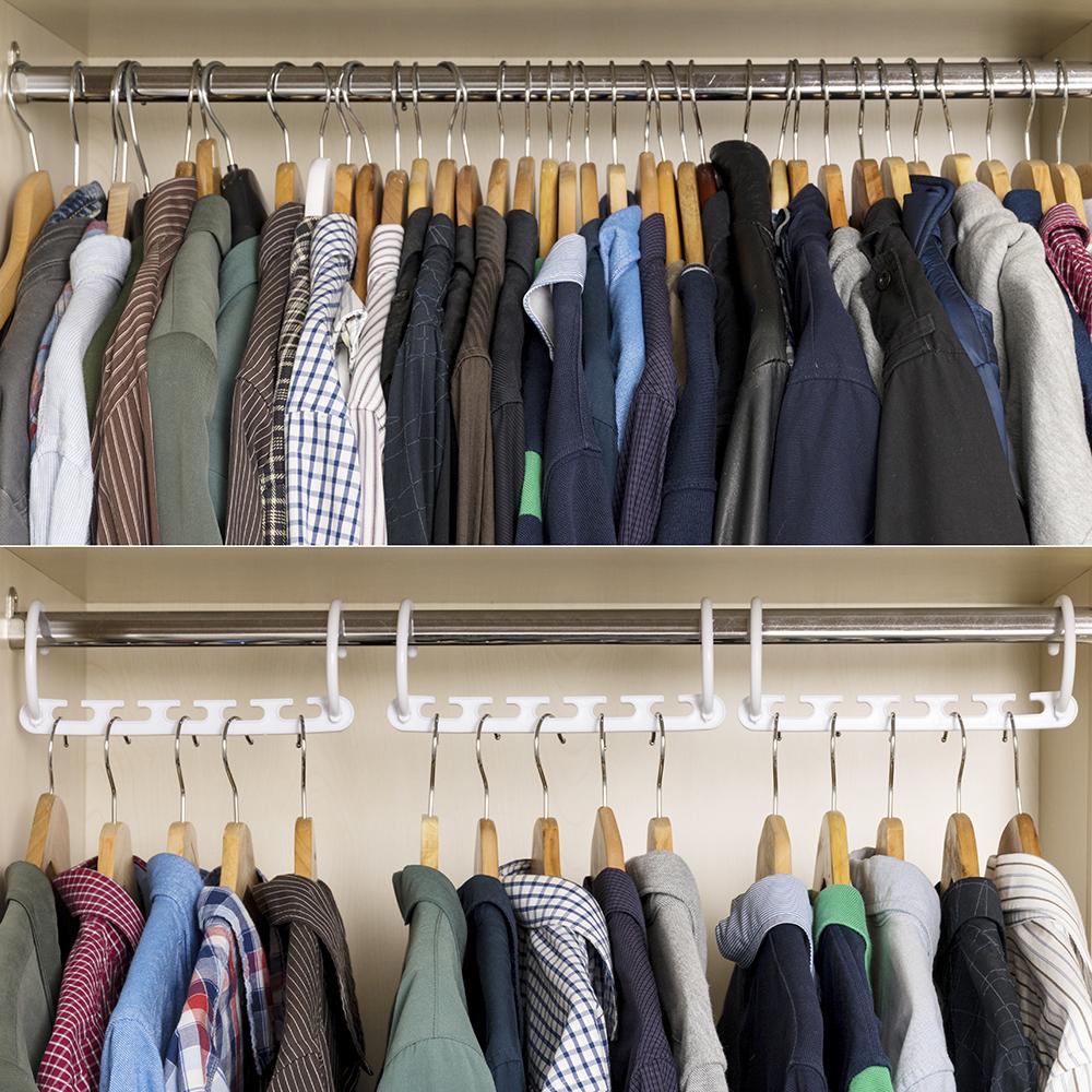 Organizador de perchas para 40 prendas 24pz - blanco