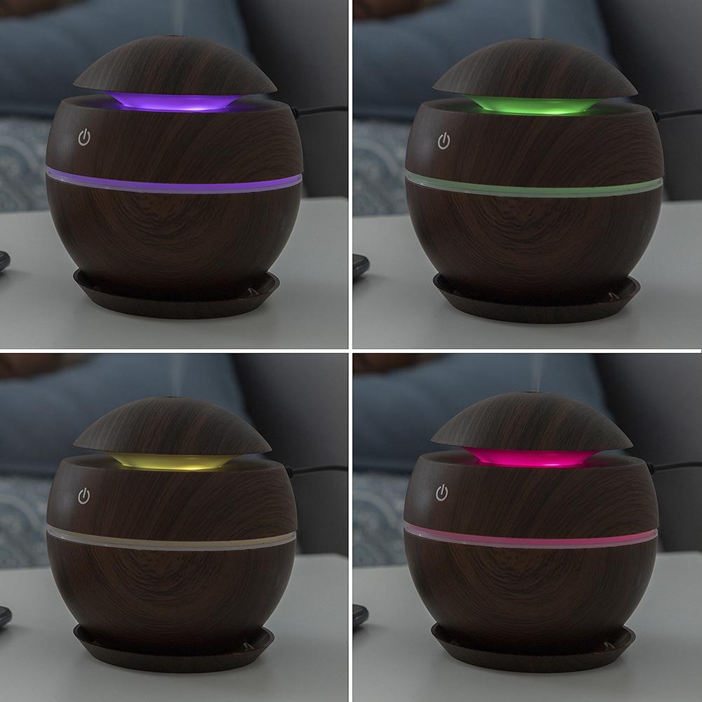 Mini humidificador difusor de aromas - marrón oscuro