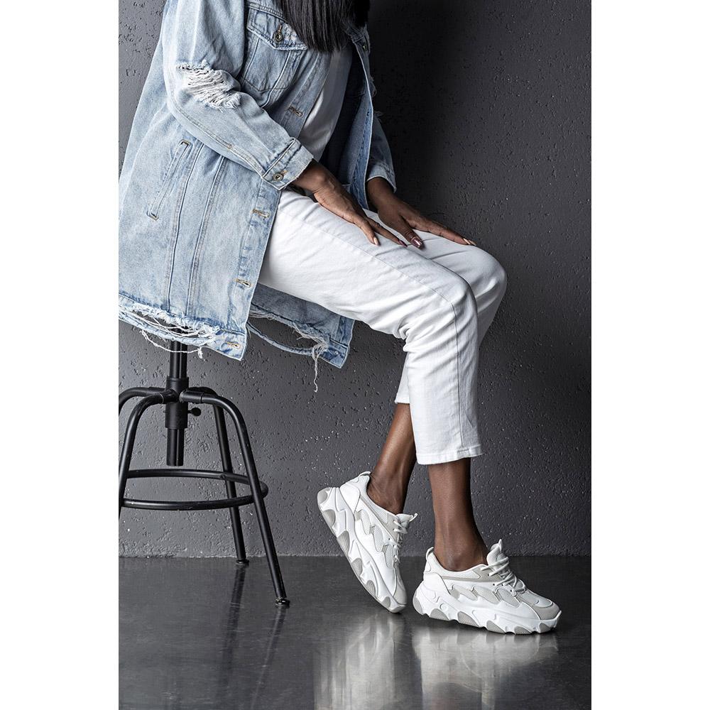 Sneaker mujer - blanco/gris