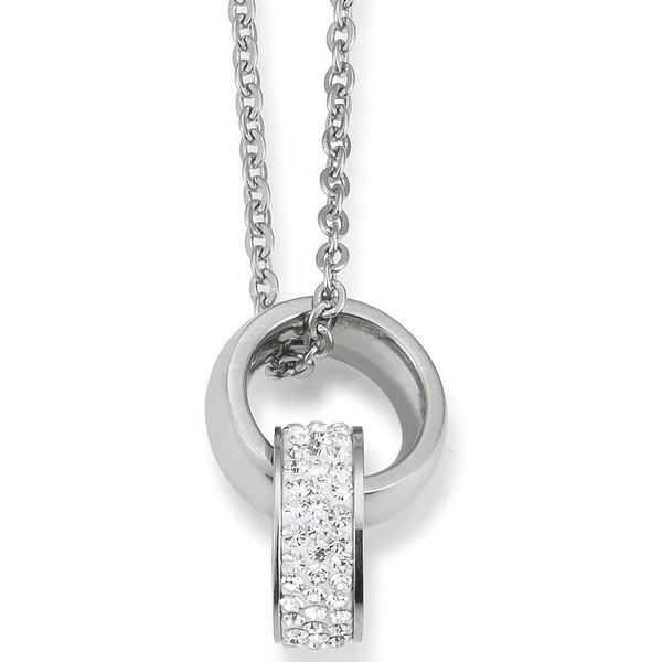 Collar plata mujer - circonita