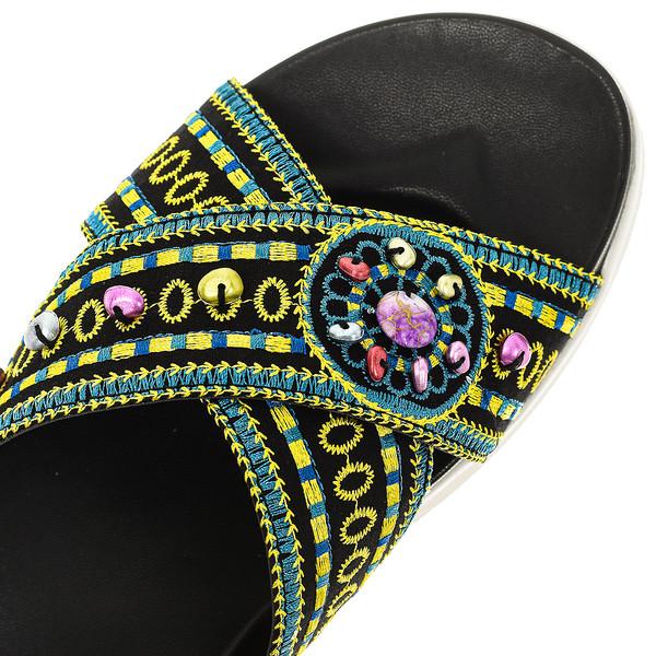 Sandalias mujer - negro/multicolor
