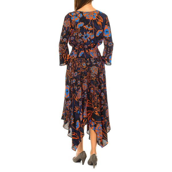 Vestido manga 3/4 mujer - multicolor