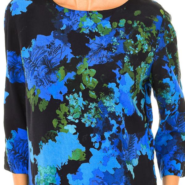 Vestido manga 3/4 mujer - azul