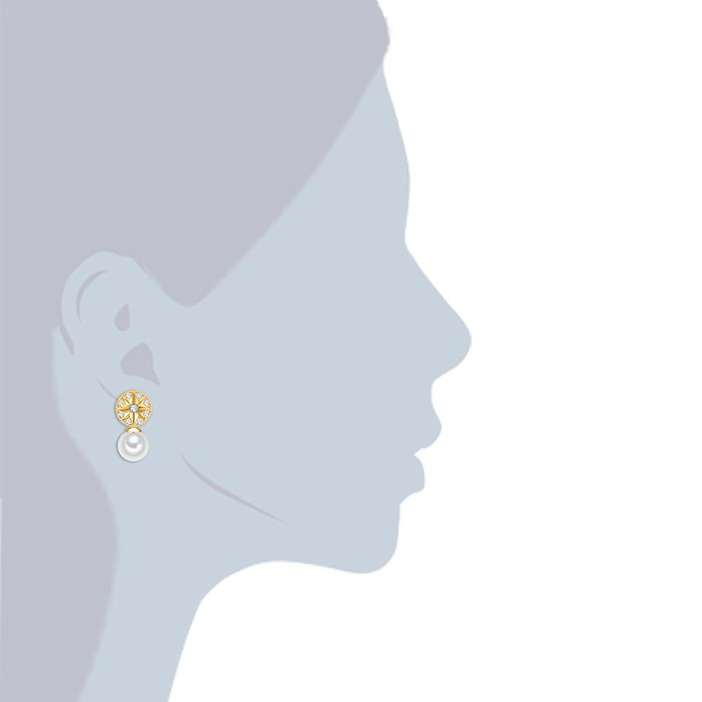 Pendientes mujer - cristal dorado