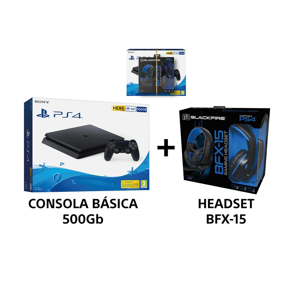 Consola ps4 500gb slim+headset bfx-15