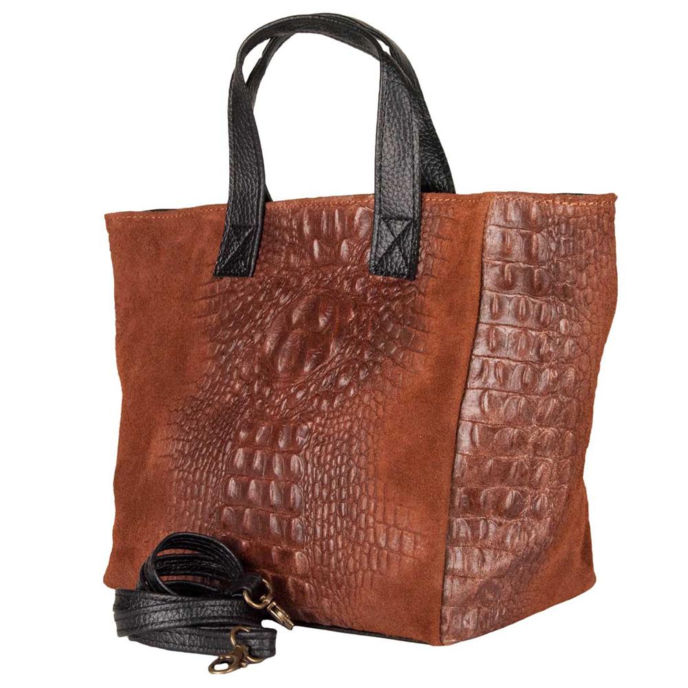 Bolso mujer piel - marrón