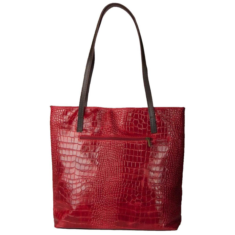 Bolso mujer piel - rojo