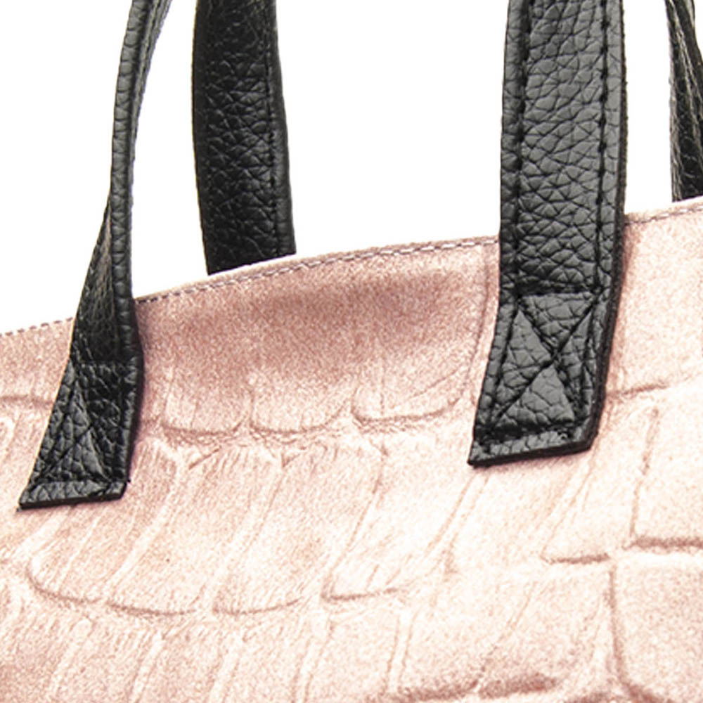 Bolso mujer piel - rosa
