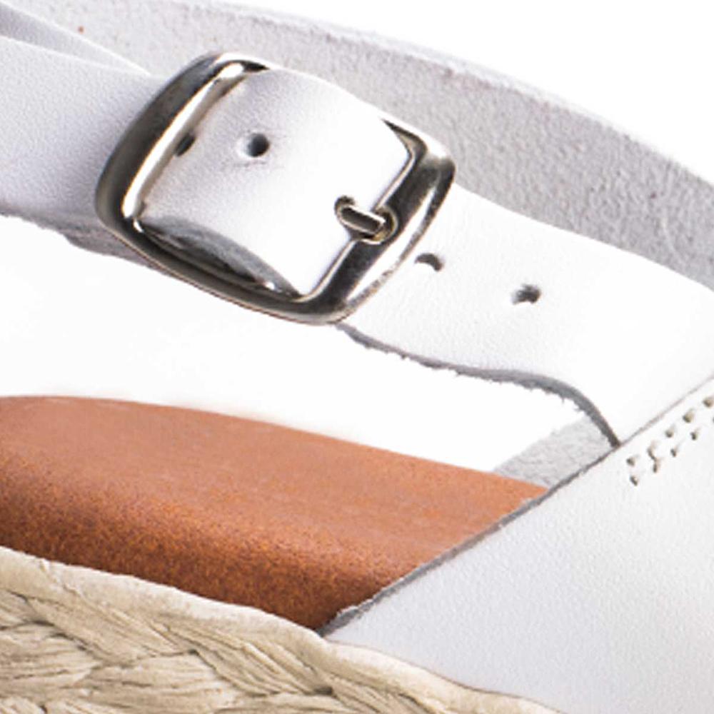 Sandalia tacón mujer piel - blanco
