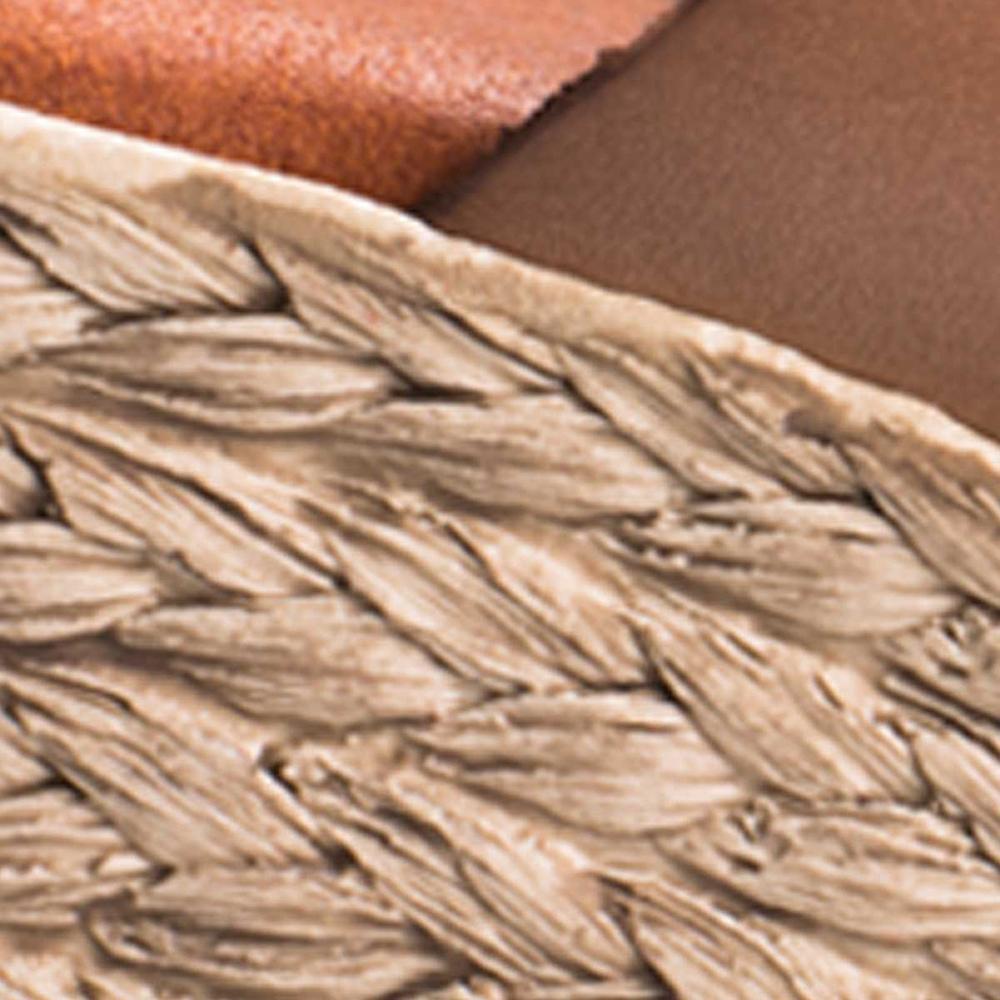 Sandalia cuña mujer piel - beige