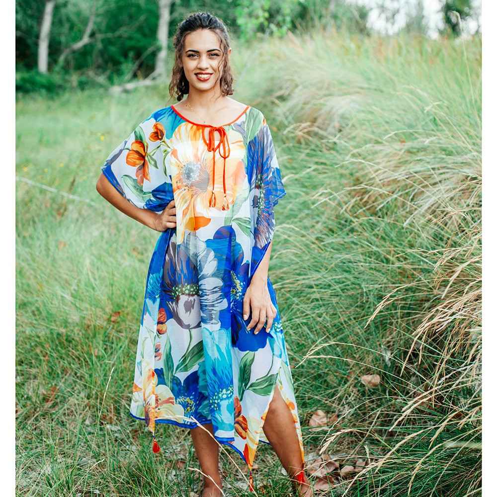 Poncho mujer - multicolor