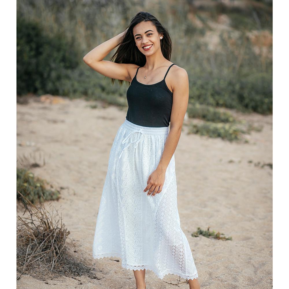 Falda mujer - blanco