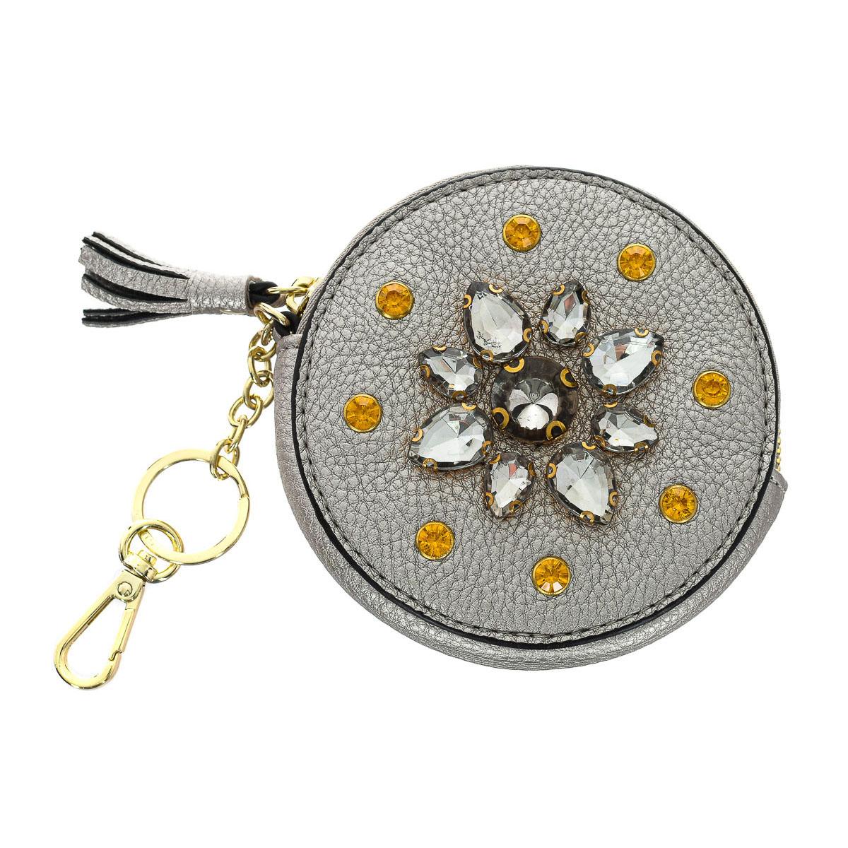 Monedero mujer - gris/dorado