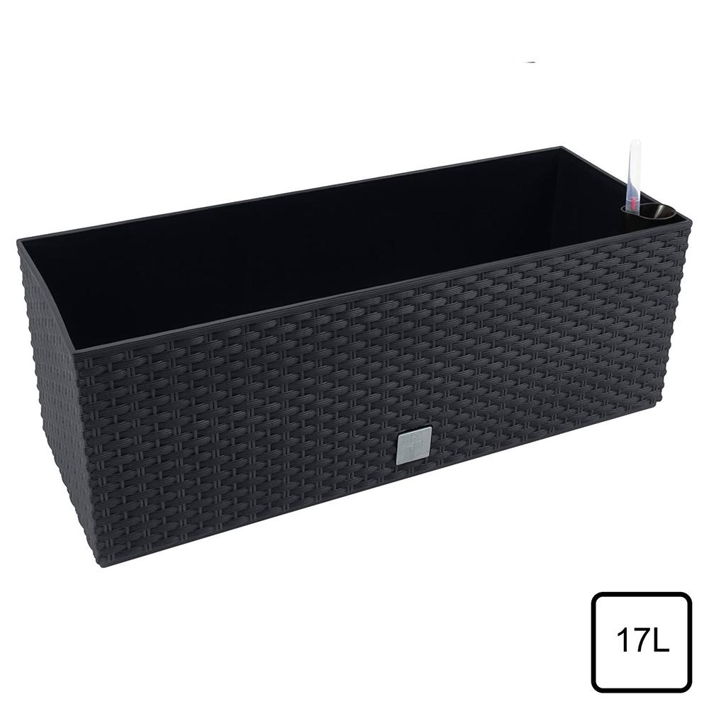 Jardinera rectangular 17L - negro