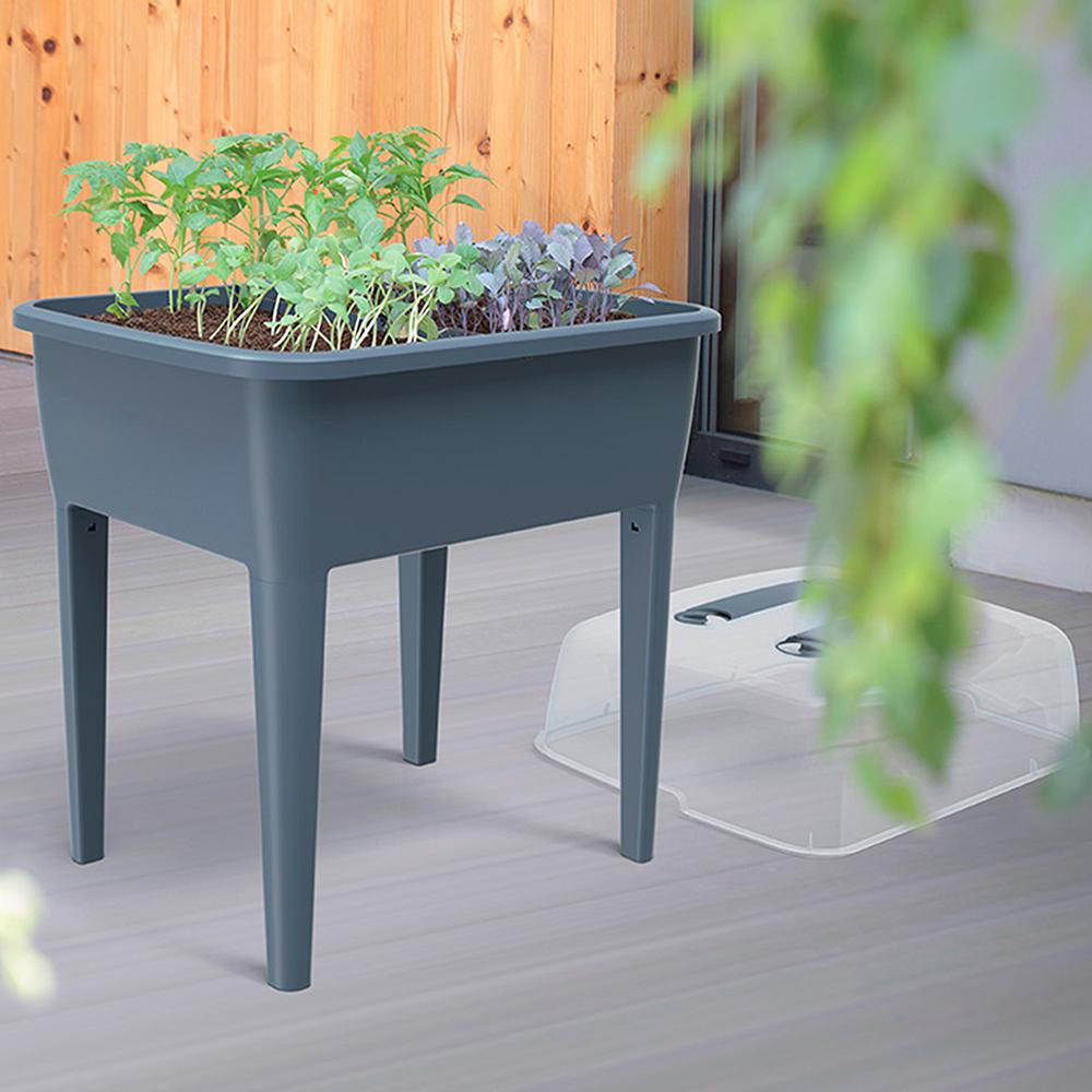 Jardinera alta 83L - gris piedra