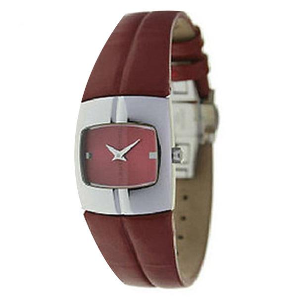 Reloj analógico piel mujer - rojo
