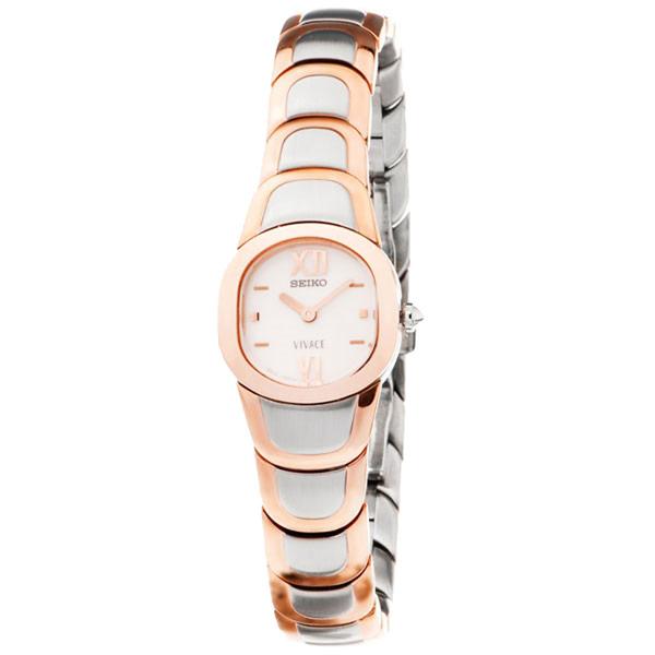 Reloj analógico acero mujer - dorado/plateado