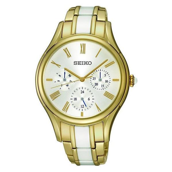 Reloj analógico acero hombre - dorado/blanco