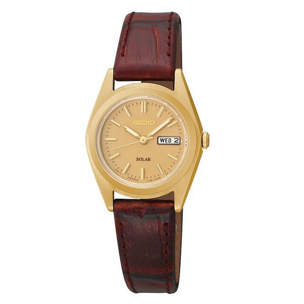 Reloj analógico piel mujer - marrón