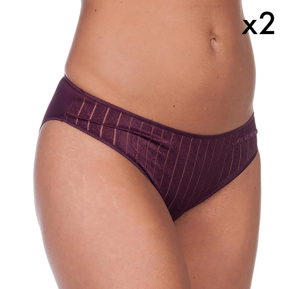 PACK 2 Braguita bikini Vanessa - burdeos