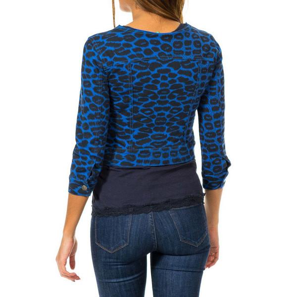 Cárdigan botones mujer - azul royal