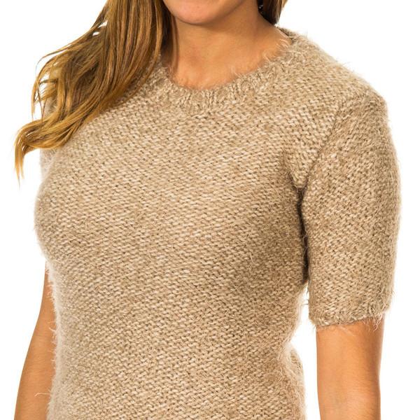 Jersey m/corta de punto mujer - arena