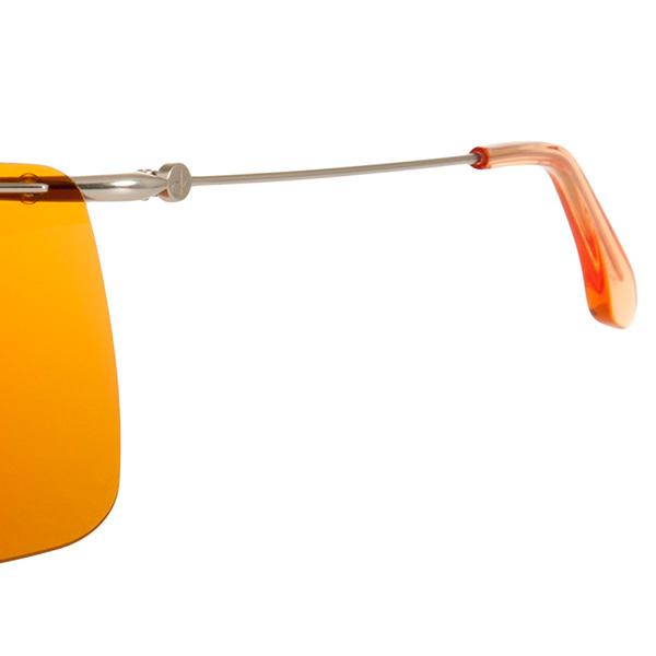 Gafas sol hombre calibre 62 - naranja/plateado