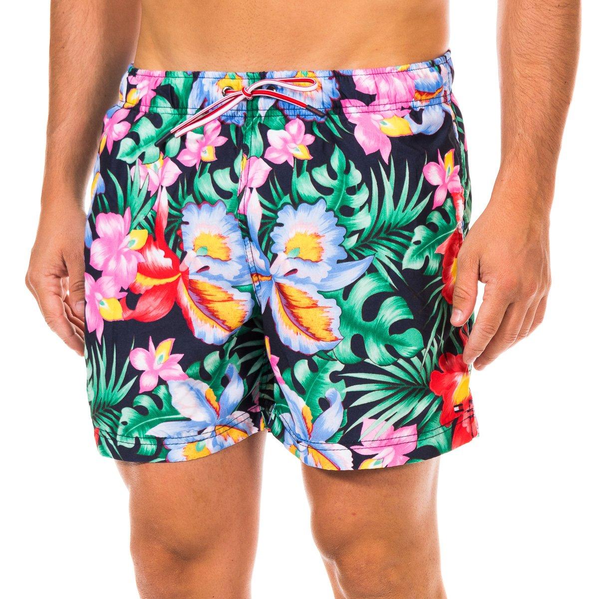 Bañador hombre - marino/floral multicolor