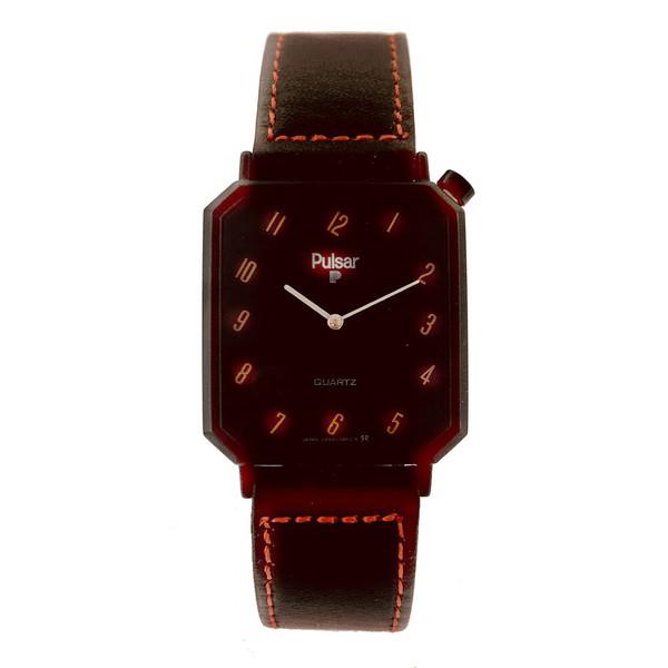 Reloj analógico piel unisex - marrón