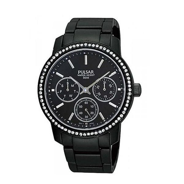 Reloj analógico aluminio mujer - negro