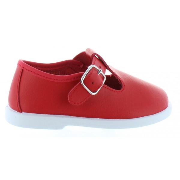 Zapato pepito piel infantil - rojo