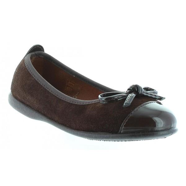 Bailarina plana plana - marrón