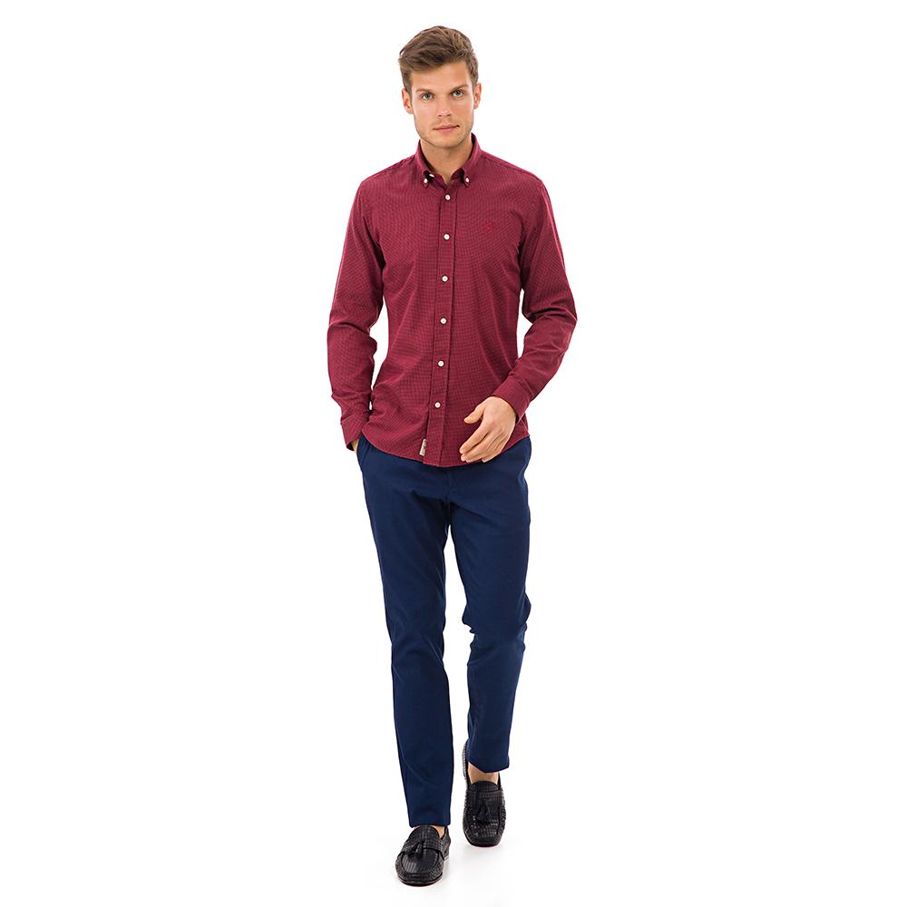 Camisa hombre - burdeos