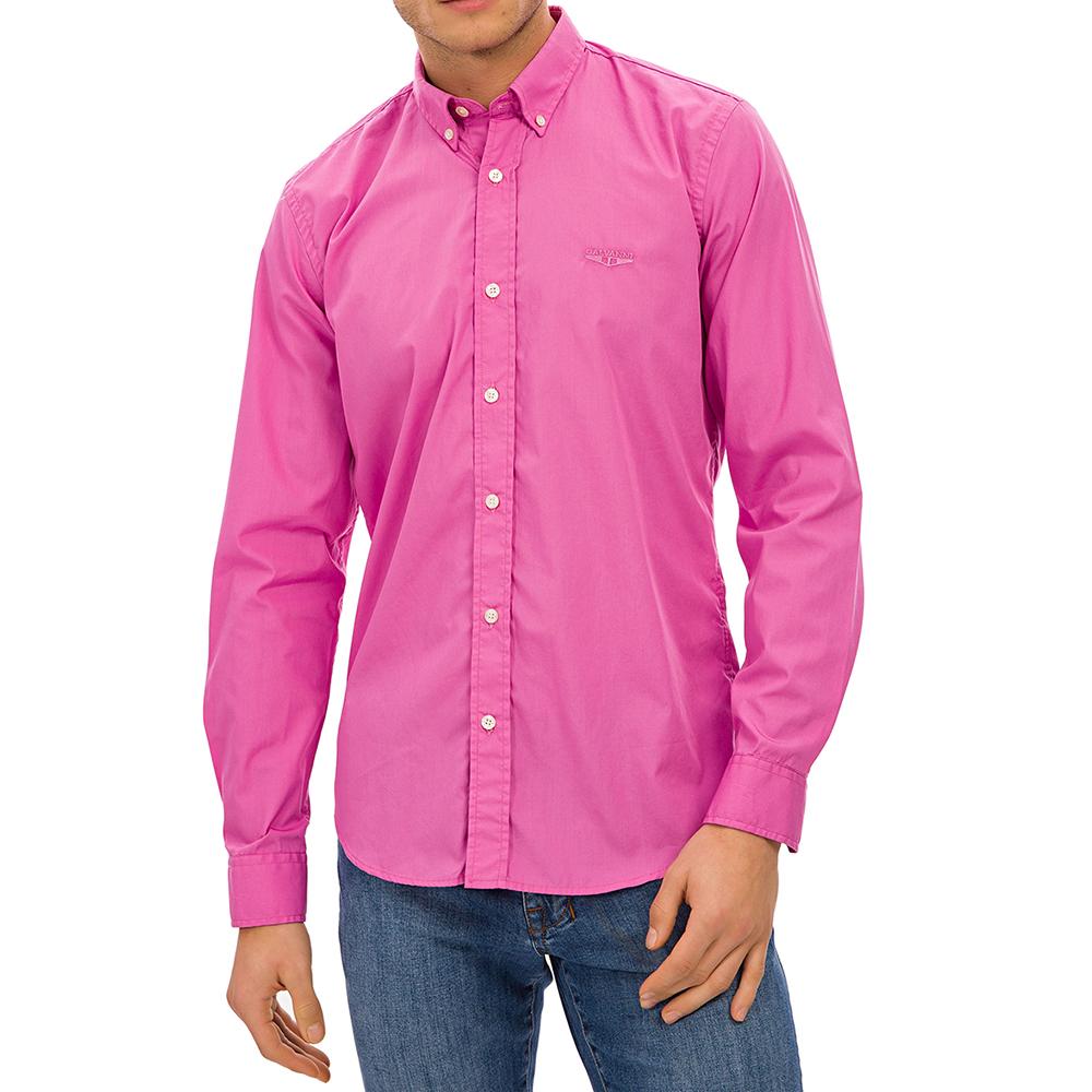 Camisa slim fit hombre - fucsia