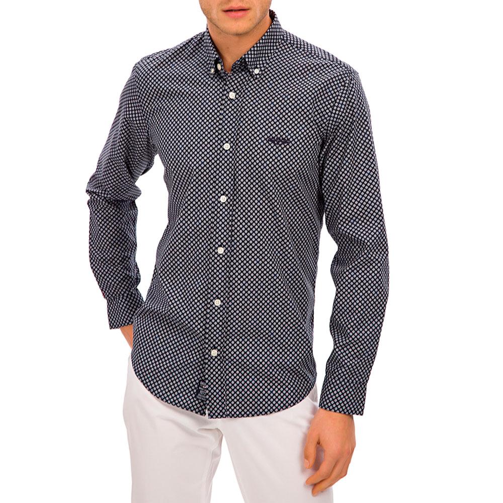 Camisa hombre - azul/blanco