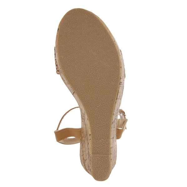 10cm Sandalia cuña mujer - beige
