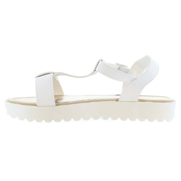 Sandalia flatform mujer - blanco