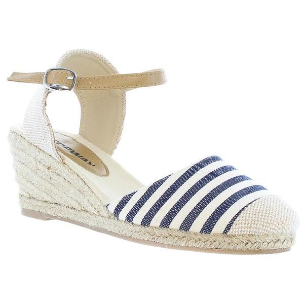 6cm Sandalia cuña mujer - azul