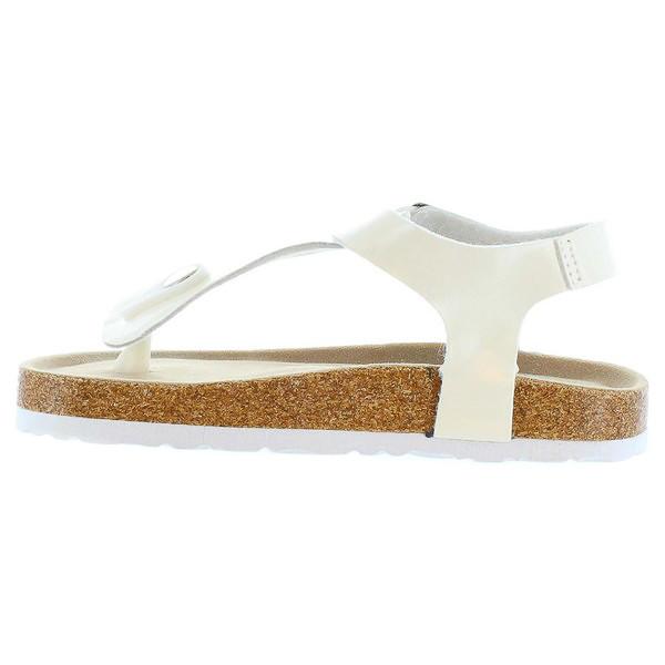 Sandalias planas junior - blanco