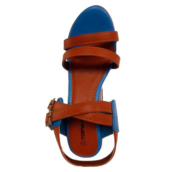 11cm Sandalia cuña mujer - camel