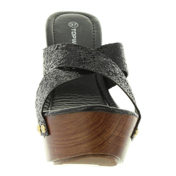 13cm Sandalia tacón mujer - negro