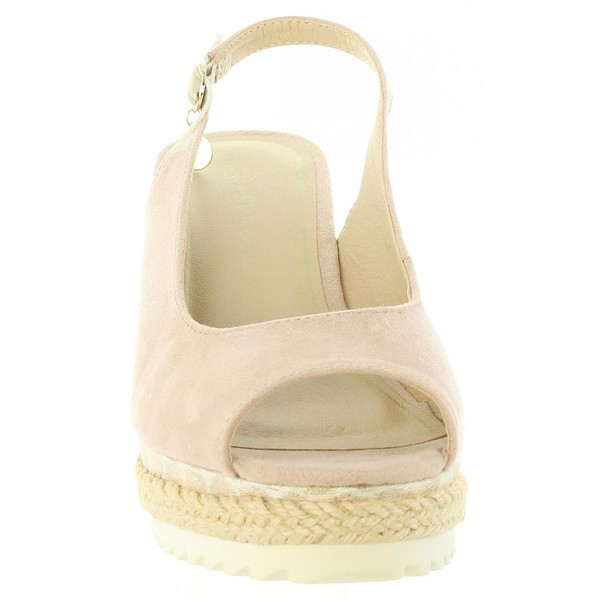 Sandalias cuña mujer - beige